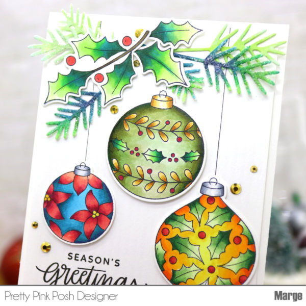 TODO Holly Sprig Die Cut Christmas Decorations